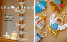 This is a great collection of homemade Christmas ornaments....we'll definitely be making some of these!