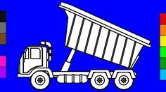 Learn colors for kids with construction truck coloring pages | Fun color...