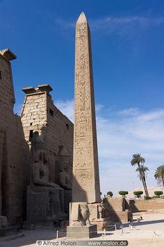 Red granite obelisk,Ancient Egyptian.