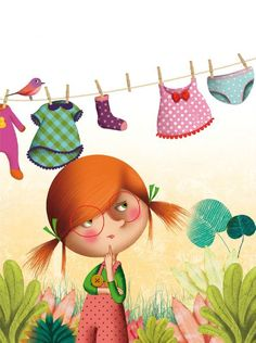Marie Desbons: chaussettes2 #cute #illustration #girl