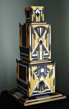 Art Deco Cake Wedding- a sculptural treat for the eyes!