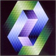 Keple-Gestalt - Victor Vasarely, 1968 Acrylic on canvas 160x160cm