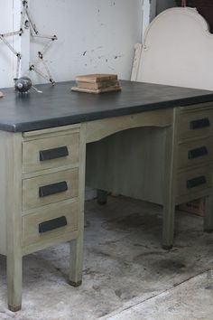 Reloved Rubbish: Vintage Teacher's Desk Love, love, love this! Wish I had one in my room! Hmmmm...maybe at home?