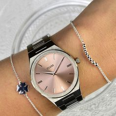 Glas Art, Watches, Band, Accessories, Fashion, Classic Elegance, Minerals, Stainless Steel, Silver