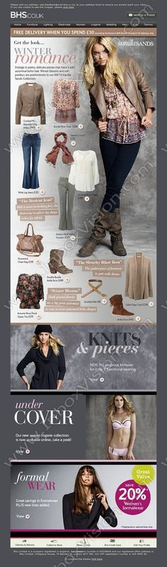 Company:  BHS Subject:  Get The Look - Our Boho Inspired Autumnal Trend - Winter Romance                INBOXVISION providing email design ideas and email marketing intelligence.    www.inboxvision.com/blog/  #EmailMarketing #DigitalMarketing #EmailDesign #EmailTemplate #InboxVision  #SocialMedia #EmailNewsletters