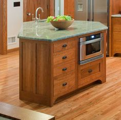 With new designs and shapes, kitchen islands are more popular than ever, making peninsulas look dated. Unlike peninsulas, islands are trendier and make your room look spacious and roomy.