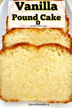 wonderful delicious vanilla tasting moist pound loaf cake such soft and is a Moist Vanilla Pound Loaf Cake is such a wonderful tasting cake soft and deliciousYou can find Pound cake recipe and more on our website Vanilla Pound Cake Recipe, Homemade Pound Cake, Easy Pound Cake, Pound Cake Recipes, Homemade Vanilla, Easy Cake Recipes, Baking Recipes, Best Moist Pound Cake Recipe Ever, Healthy Pound Cake Recipe