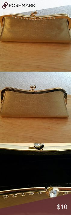 Evening bag Beautiful gold clutch evening bag with rhinestones Bags Clutches & Wristlets