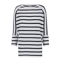 Camiseta Blanca Rayas Negras