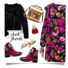 """""""spark it up"""" by collagette ❤ liked on Polyvore featuring MANGO, Christian Dior and darkflorals"""
