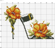 ru / Foto # 14 - scarpe e pantofole, ecc - Irisha-IRA Cross Stitch Bird, Cross Stitch Flowers, Cross Stitch Charts, Cross Stitch Designs, Cross Stitching, Cross Stitch Embroidery, Hand Embroidery, Cross Stitch Patterns, Beading Patterns