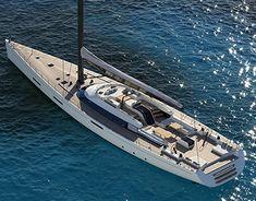35 Meters Sailing Yacht on Behance Sailing Yachts, Catamaran, Sail Boats, Water Toys, Mans World, Behance, Ocean, Exterior, Spaces