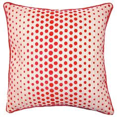 Berry Etc Red Dots Throw Pillow @Layla Grayce