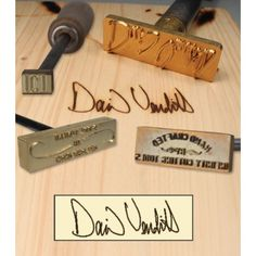 woodworking equipment Custom Made Branding Irons - 3 Lines of Text with Scroll Motif - Get up to two lines of text along with a very crafty tools motif on a custom made branding iron. Used Woodworking Tools, Woodworking Equipment, Popular Woodworking, Woodworking Furniture, Custom Woodworking, Woodworking Crafts, Woodworking Plans, Woodworking Jigsaw, Wood Furniture