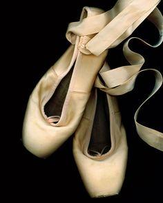 Worn Ballet Pointe Shoes Fine Art Photography 8x10 by aleishaevans