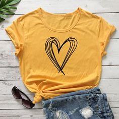 Heart Print, Life Is Beautiful, Tees, Sweatshirts, Sweaters, T Shirt, Products, Fashion, Crew Neck