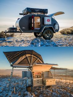 , Best Teardrop Camper Designs For Adventure Travel , This teardrop trailer has some of the coolest off road accessories for camping and adventure travel. Lots of ideas and organization hacks in this diy . Small Camper Trailers, Camper Trailer For Sale, Off Road Trailer, Small Trailer, Small Campers, Vintage Campers Trailers, Trailers For Sale, Small Rv, Camping Trailer Diy