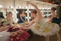 It's warm up time for the Valley Dance Theatre ballerinas in the Bankhead dressing room!