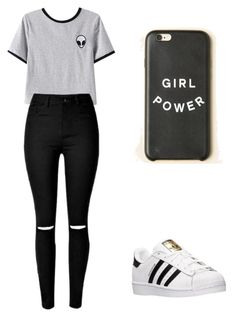 """""""Untitled #16"""" by marianacangalhas ❤ liked on Polyvore featuring Chicnova Fashion and adidas"""