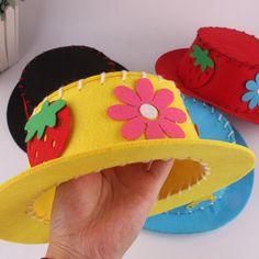 Diy Wool Felt Child Top Hat 5 Colors Kids Crafts Set With Tracking Number Kids Crafts, Kids Craft Sets, Diy Crafts For Adults, Hat Crafts, Preschool Crafts, Diy For Kids, Crazy Hat Day, Crazy Hats, Make Your Own Hat