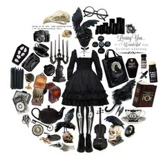 """Of beaks and bones"" by sw-13 ❤ liked on Polyvore featuring Pamela Love, Seletti, Raven Denim, The Wild Unknown, Betsey Johnson, Francesco Ballestrazzi, Retrò, Rare London, Cameo and Anna Sui"