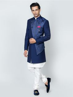Fashion Suits, Fashion News, Prince Suit, Sky Blue Weddings, Denim Button Up, Button Up Shirts, Mens Sherwani, Mens Kurta Designs, Cargo Pants Men