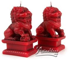 Chinese Lion candles