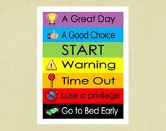 Printable Behavior Chart for childrenInstant by JackpotDesigns