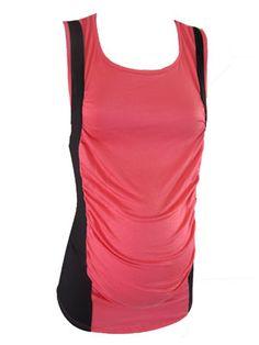 Lena Color Block Tank by P Inc Maternity - Maternity Clothing - Flybelly Maternity Clothing
