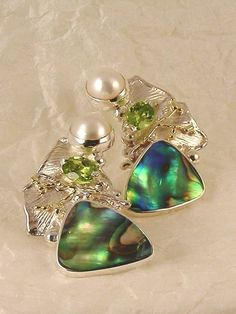 RT or Repin this Now Gregory Pyra Piro #Sterling #Silver and #Gold #Earrings 6342