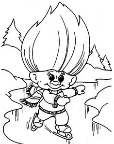 Pics Photos Trolls Cartoon Colouring Pages Picture