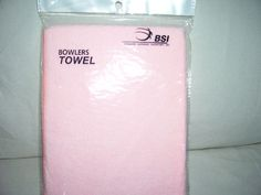 New BSI Micro Fiber Bowling Towel Pink ON SALE NOW ! 2 FOR 1  #BSI