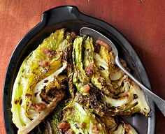 roasted grilled cabbage with bacon