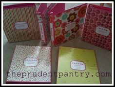 Check out these great binders for back-to-school. They were made with simple clear front binders and scrapbook paper. A decorative. I Love School, Diy Back To School, School Stuff, Binder Decoration, Paper Decorations, Fun Crafts To Do, Diy Crafts, Recipe Binders, Custom Binders