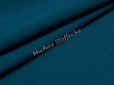 Michas Stoffecke - Stretch-Sweat Uni petrol U1-EU-SSw-T-EV