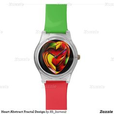 Heart Abstract Fractal Design Watch