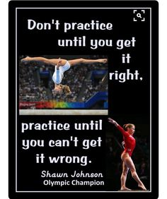 Gymnastics Poster Shawn Johnson Olympic Gymnast Photo Quote Wall Art Print Practice Til You Can't Get It Wrong! Gymnastics Posters, Gymnastics Workout, Gymnastics Pictures, Olympic Gymnastics, Gymnastics Stuff, Olympic Games, Gymnastics Problems, Gymnastics Quizzes, Gymnastics Sayings