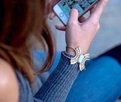 Geo Turquoise Bracelet