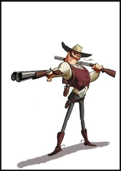 Gillianimation: May 2011 Boy Character, Game Character Design, Character Design Animation, Character Design References, Character Design Inspiration, Character Concept, Concept Art, Old Western Towns, Cowboy Art