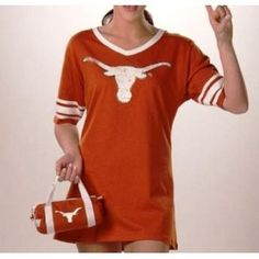 Texas Football Jersey - Nightshirt in a Bag --- http://www.amazon.com/Longhorns-Ladies-Football-Jersey-Medium/dp/B0031STQ1M/?tag=zaheerbabarco-20