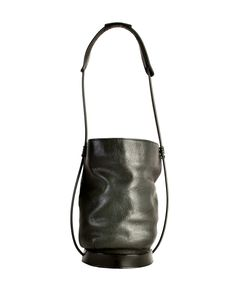a227e4634b Issey Miyake Vintage Black Leather Bucket Bag - Amarcord Vintage Fashion -  1 Issey Miyake