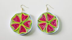 Quilled Earrings - Lemons by norano-handmade