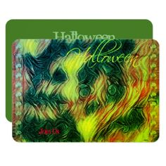 Cool Green Zombie Halloween Party Invitation - Halloween happyhalloween festival party holiday