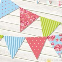 Party bunting banners - Super Floral Distributors - Decor, Floral accessories and Crafters accessories in Cape Town