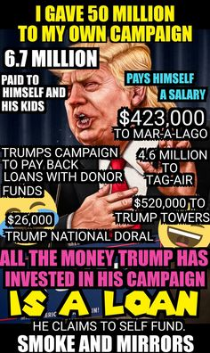 Donald Trump a Self-Funding Fraud.