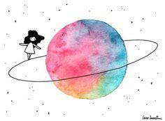 Descubriendo otro planeta  en el universo  mi mundo tan grande