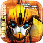 """Transformers Prime """"Bumblebee"""" Small Paper Plates"""