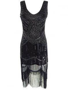 GET $50 NOW   Join RoseGal: Get YOUR $50 NOW!http://m.rosegal.com/club-dresses/fashionable-beaded-fringed-dress-for-women-633055.html?seid=564ftmp3vhgb86v271fq9g3985rg633055