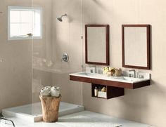 Master Bathroom Vanity Is ADA Compliant. The Sleek Clean Lined Vanity Is  Finished In A