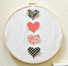 embroidery hoop valentine art
